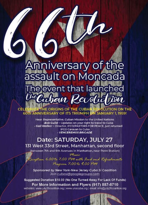 66th Anniversary Attack on Moncada Cuban Revolution