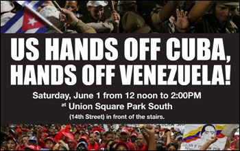Join the New York-New Jersey Cuba Sí Coalition to demand US HANDS OFF CUBA and VENEZUELA