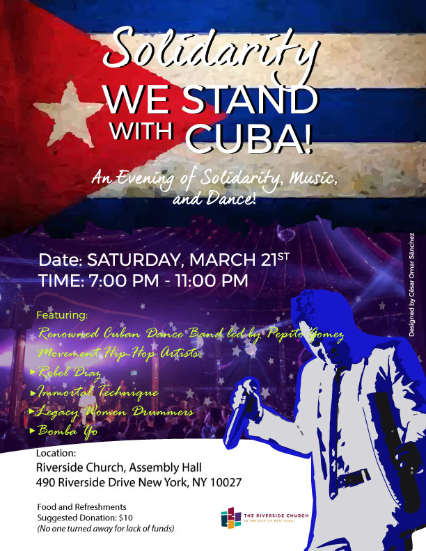 Solidarity! We Stand with Cuba!